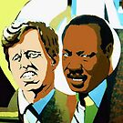 KENNEDY AND KING by CustomCanvasART