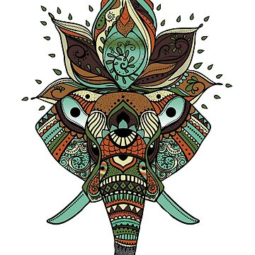 Elephant-Mandala Sticker by nunigifts