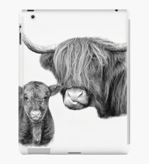 Highland Cow and Calf  iPad Case/Skin