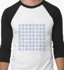 A Plethora of Petal Diamonds Men's Baseball ¾ T-Shirt