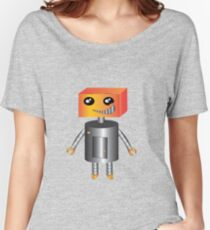 Robot Orange Women's Relaxed Fit T-Shirt