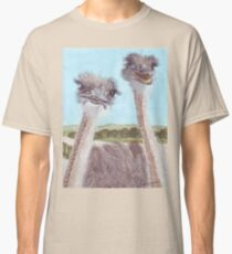 Ostriches with curious cute faces Classic T-Shirt