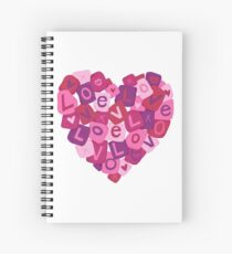 Love Letters Spiral Notebook