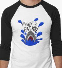 Pleased to eat you shark attack illustration Men's Baseball ¾ T-Shirt
