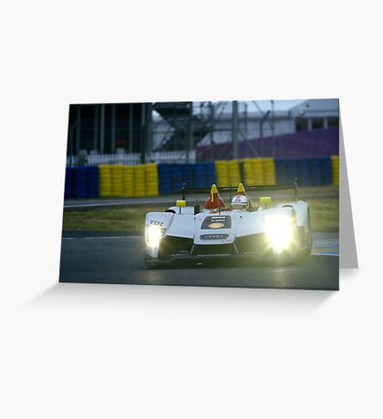 Le Mans 2009 by night: Audi Greeting Card