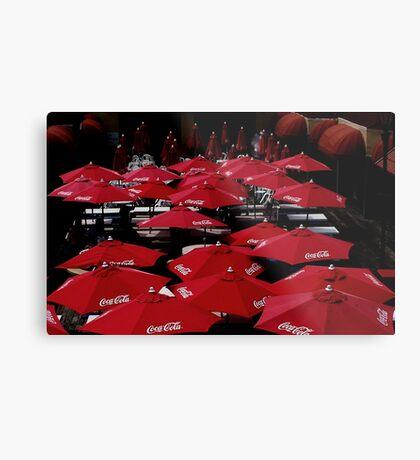 Red  Umbrella's    Metal Print