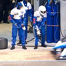 Pit stop for the Peugeot 908 HDI by Yves Roumazeilles