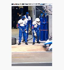 Pit stop for the Peugeot 908 HDI Photographic Print