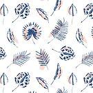 Minimale Palmblätter von BekkaCampbell