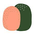 Peach and Pickle Cactus Buddies by JulesTillman
