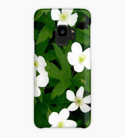 White Flowers Case/Skin for Samsung Galaxy