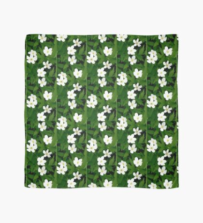 White Flowers Scarf