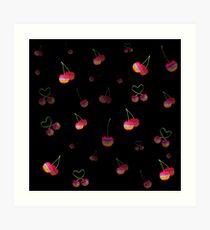Rainbow Cherries Art Print