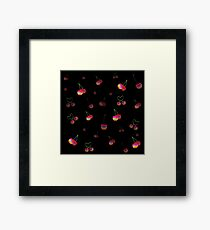 Rainbow Cherries Framed Print