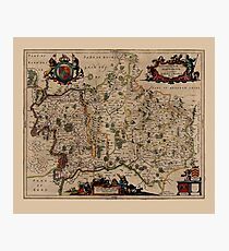 Map Of Middlesex 1646 Photographic Print