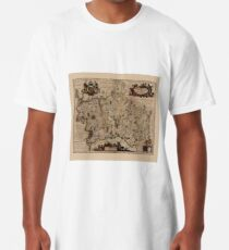 Map Of Middlesex 1646 Long T-Shirt