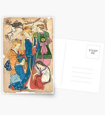 Sailor Moon Ukiyo E Postcards