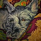 Snuggle Time for Shad the Schnauzer by Pam Humbargar