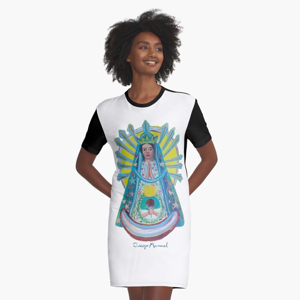 Virgin of Lujan 1 C Graphic T-Shirt Dress