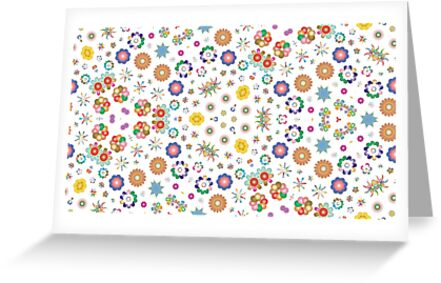 design lovely things 16 10 aspect ratio ornamental seamless colorful repeat pattern by Abrahamjrnd