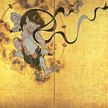 Fujin Raijin-zu (Picture of Wind and Thunder Gods), early Edo period, two panels. National Treasure, Kyoto National Museum by love999