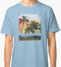 Saint Martin Palm Tree Sunset Souvenir Classic T-Shirt