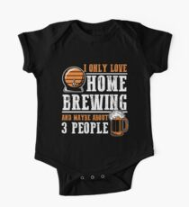 For Craft Beer Lovers who Brew Their Beer at Home Dark One Piece - Short Sleeve
