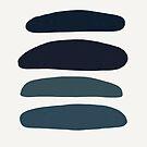 blue beach stripes by jules tillman by JulesTillman