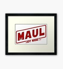 Maul a SOY Wars Story 2 Framed Print