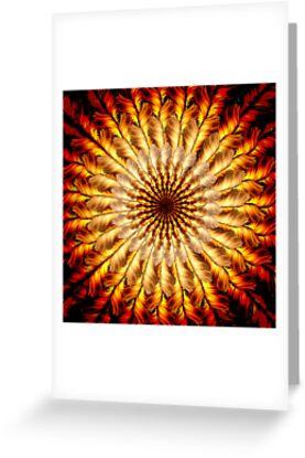 Feathered Sun Mandala by JenLand
