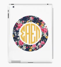 Sigma Alpha Epsilon Pi Floral Monogram iPad Case/Skin
