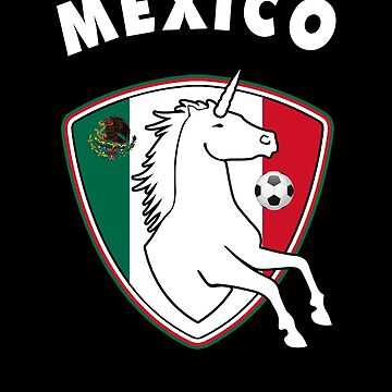 Unicorn Soccer Ball Mexico Flag  by carlosa98