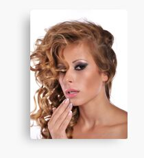 Stunning Beauty with amazing Make Up Canvas Print