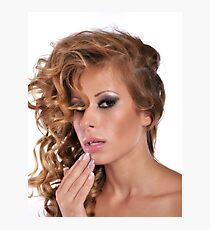 Stunning Beauty with amazing Make Up Photographic Print