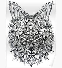 Wolf Mandala Poster Redbubble