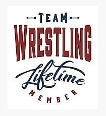 Team Wrestling Photographic Print