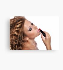 Amazing Beauty with stunning Make Up Canvas Print