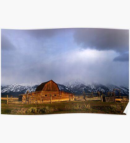 Moulton Barn, Mormon Row - Teton Sunrise Poster