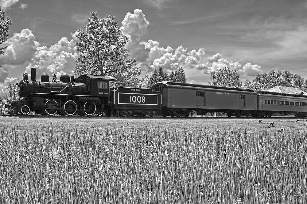 Grand Trunk Locomotive, Chrysler Park, Ontario, Canada by Mike Oxley