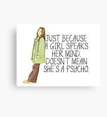 Speaks Her Mind Canvas Print