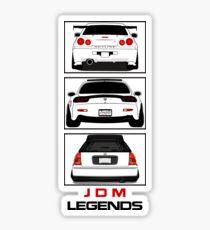 JDM Legends Nissan Skyline Mazda RX7 Honda Civic Sticker