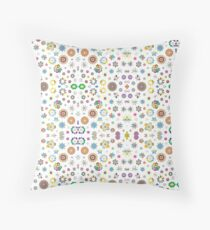 art colorful flowers abstract 16 10 aspect ratio seamless repeat pattern Throw Pillow