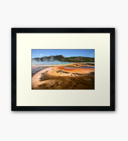 Grand Prismatic Spring Abstract Runoff Framed Print