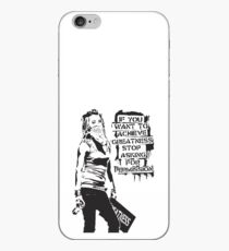 Banksy quote graffiti If You Want to Achieve Greatness stop asking for permission black and white with Banksy tag signature iPhone Case