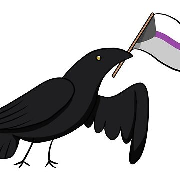 Pride Corvids - Demisexual by draweththeraven