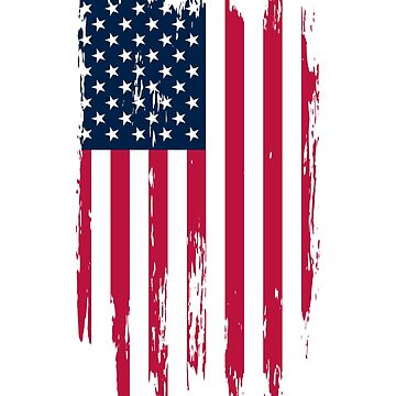 Vintage Distressed American Flag T-Shirts & Stickers by culturesociety