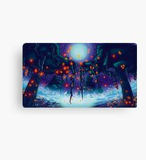Swamp Moss Glow Canvas Print