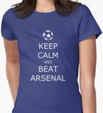 Keep Calm and Beat Arsenal 2 Women's Fitted T-Shirt