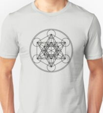Metatrons Cube, Flower of life, Sacred Geometry Slim Fit T-Shirt