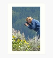 Taking a picture! Art Print